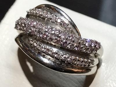 ピンクダイヤモンド(DIAMOND)ダイヤ リング プラチナ 指輪