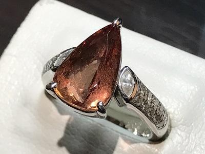 宝石 インペリアルトパーズ トパーズ 指輪 リング 色石 ダイヤモンド(DIAMOND) 京都 四条 烏丸 河原町 買取り