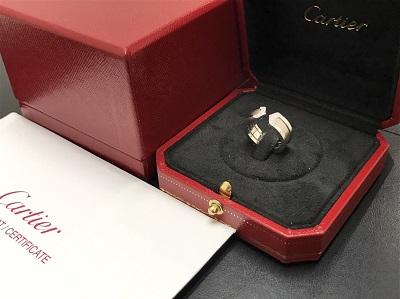 CARTIER カルティエ C2リング 750WG ホワイトゴールド ジュエリー 高価買取 七条店 西院