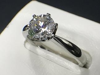 ダイヤモンドリング Pr900 SI1 G プラチナ 宝石 ジュエリー買取 質屋 高い 福岡 天神 博多 薬院 赤坂