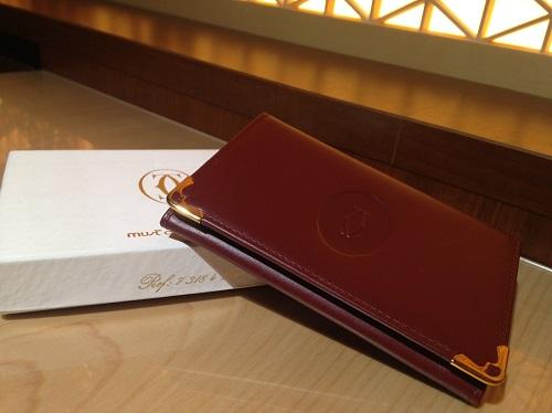 カルティエ Cartier カードケース マストライン レザー ボルドー 買取 渋谷