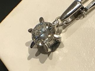 ダイヤモンドペンダント プラチナ ジュエリー 査定 宝石買取 質屋 高い 福岡 天神 博多 赤坂 薬院