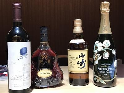 定番人気 お酒 オーパスワン ヘネシーXO 山崎 ベルエポック 京都 買取 四条 烏丸 河原町