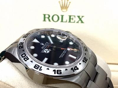 ロレックス(ROLEX)エクスプローラーII Ref.216570 ブラック ランダム 付属品有 銀座渋谷新橋
