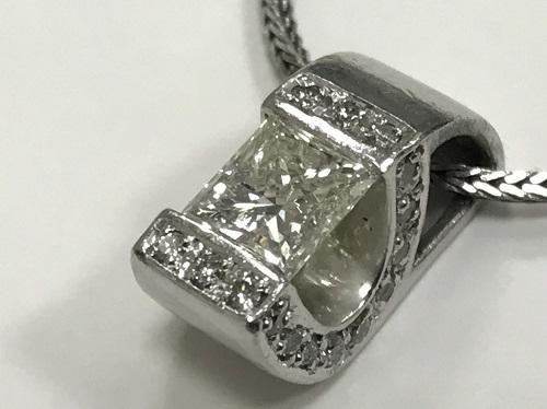 ダイヤモンドペンダント プラチナ Pt900 ジュエリー 1.015ct 出張買取