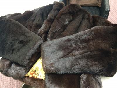 毛皮コート ショートコート ラビット ブラック 破れあり マルカ 出張買取 京都 大阪 東京 福岡