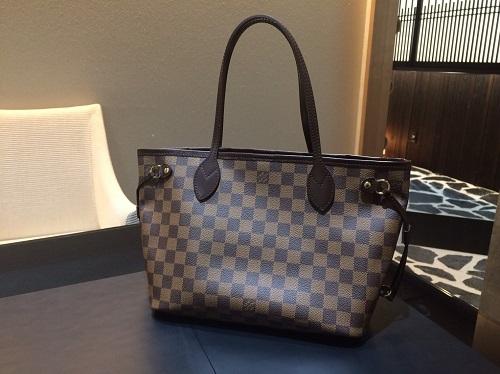 ルイヴィトン Louis Vuitton ネヴァーフルPM ダミエエベヌ N51109 買取 銀座