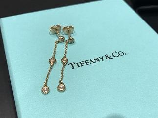 Tiffany & Co ティファニー バイザヤード 3Pダイヤモンド イヤリング ピアス 750 ブランドジュエリー買取 福岡 天神 博多 薬院 赤坂 質屋
