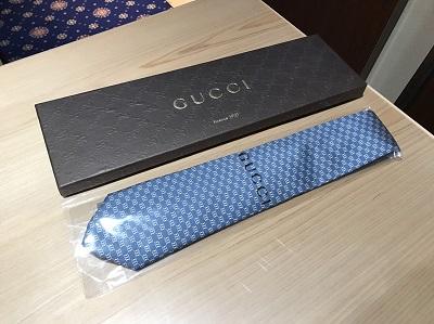 GUCCI(グッチ)ネクタイ ブルー 未使用品 メンズ アパレル 出張買取 東京