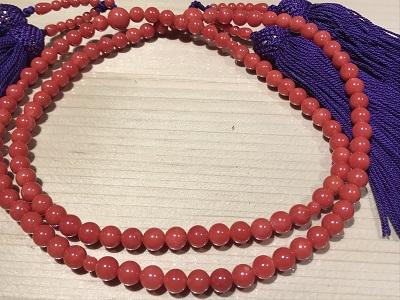 数珠 サンゴ(CORAL)  珊瑚 骨董 道具 京都 四条 烏丸 河原町 買取