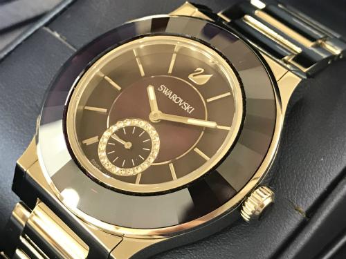 スワロフスキー 時計 クォーツ メンズ ステンレススチール 美品 出張買取 マルカ 四条大宮店