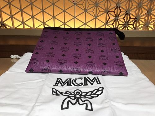 MCM エムシーエム クラッチバッグ レザー パープル 買取 渋谷 ヒカリエ 宮益坂