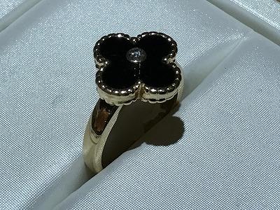 ヴァンクリ―フ&アーペル(Van Cleef & Arpels) アルハンブラ リング 指輪 K18 オニキス Diamond(ダイヤモンド)京都 四条 烏丸 河原町 買取