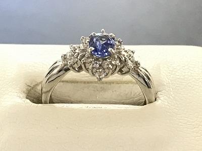 プラチナ サファイア リング ダイヤモンド Pt900 宝石 希少 貴石 マルカ 出張買取 四条大宮店