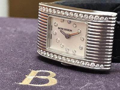 BOUCHERON ブシュロン リフレ ダイヤベゼル SS ステンレス 腕時計 レディースウォッチ 高価買取 出張買取