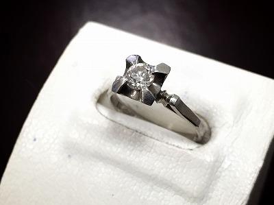 ダイヤモンドリング 0.2カラット 宝石 プラチナ ジュエリー買取 大阪心斎橋