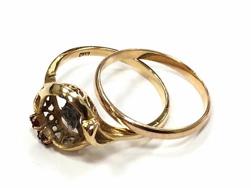 地金 K18 金 指輪 3.5g