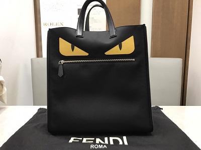 FENDI フェンディ トートバッグ モンスター バッグバグズ 黒 美品 高価買取 七条店