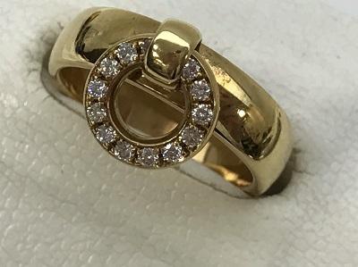 ティファニー(Tiffany&Co.) ダイヤモンド ドアノッカー リング 750YG ティファニー買取 三宮 神戸