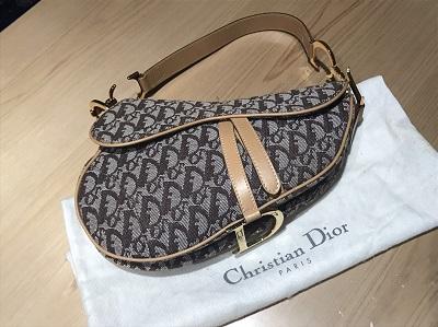 C・Dior(ディオール)サドルバッグ キャンバス ベージュ 宅配買取