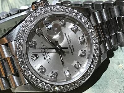 ロレックス(ROLEX) デイトジャスト 69136 プラチナ ダイヤモンド(DIAMOND) 腕時計