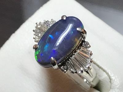 ブラックオパール 宝石 指輪 リング 宝飾品 ジュエリー