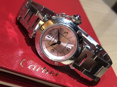 Cartier(カルティエ)ミスパシャ W3140008 ピンク文字盤 買取 渋谷 東京