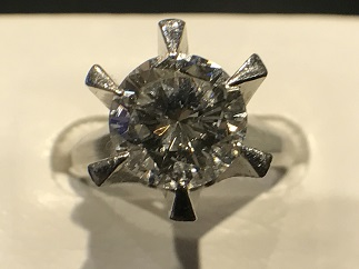 ダイヤモンドリング Pt900 プラチナ 宝石買取 福岡天神 博多