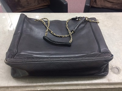 シャネル(CHANEL)チェーンバッグ ラムスキン 黒 ジャンク品