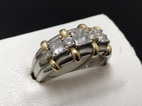 ダイヤモンド Pt900 K18 1.00ct 9.0g 宝石 貴金属 北山 買取