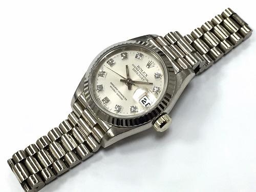 ロレックス 69179G デイトジャスト ダイヤモンドインデックス