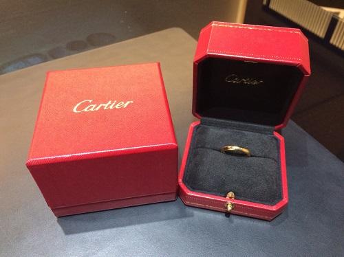 カルティエ Cartier プレーンリング 750 イニシャル入り 買取