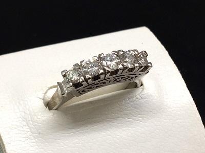 ダイヤモンドリング PT900 0.71ct メレ 5.0g 買取 宝石 マルカ