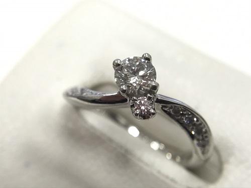 指輪 プラチナリング Pt900 ダイヤモンド0.331カラット 4.2g