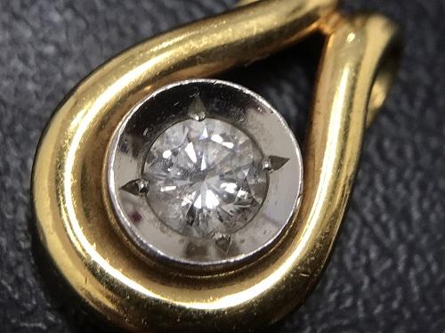 ペンダントトップ ダイヤモンド K18/Pt900 0.243 2.9g 宝石 北山 買取