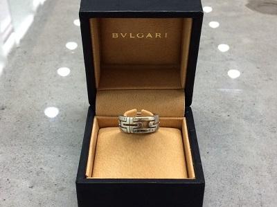 ブルガリ(BVLGARI)パレンテシリング 750WG ブランドジュエリー 買取 マルカ