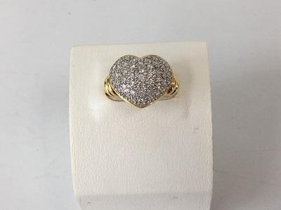 ダイヤモンドリング K18 1.06ct メレダイヤ 9.0g 宝石 ジュエリー 買取