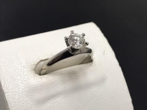 ダイヤモンドリング Pt900 0.52ct 5.5g 宝石 貴金属 七条 買取