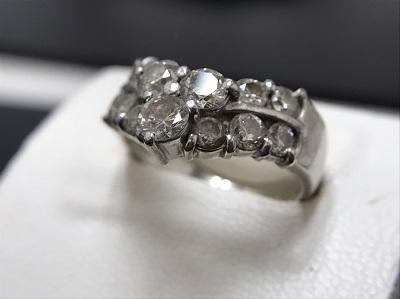 メレダイヤモンド 2.00ct リング Pt900 プラチナ 宝石 高価買取 七条店