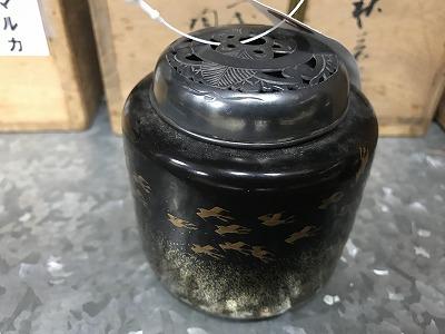時代銀ボヤ蒔絵香炉 出張買取 骨董品買取