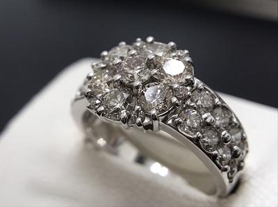 メレダイヤモンド 2.50ct リング Pt900 プラチナ 宝石 高価買取 出張買取