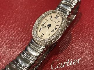 Cartier カルティエ ミニベニュワール WB5095L2 3重ベゼル 750WG 時計買取 福岡 天神 博多