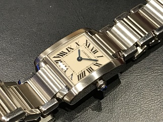100% authentic b8071 5bdc5 Cartier カルティエ タンクフランセーズSM 時計買取 福岡天神 ...