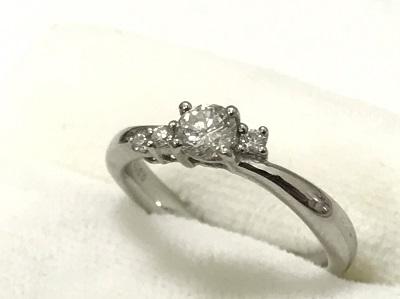ダイヤモンドリング Pt900 0.33ct 0.15ct 宝石 ジュエリー 買取 マルカ 高価買取