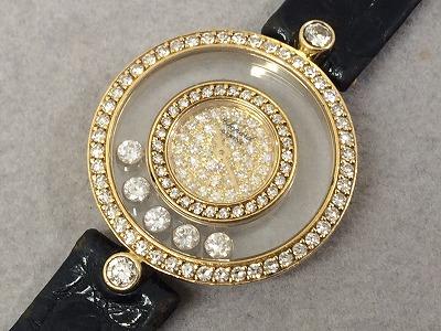 ショパール ハッピーダイヤモンド 5PD 全面ダイヤモンドモデル 20/3957 750YG