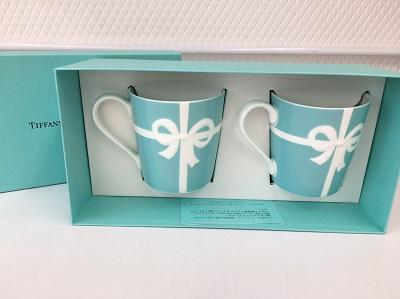 ティファニー(Tiffany&Co.)ペアマグカップ ブルー リボン ブランド食器 マルカ 出張買取