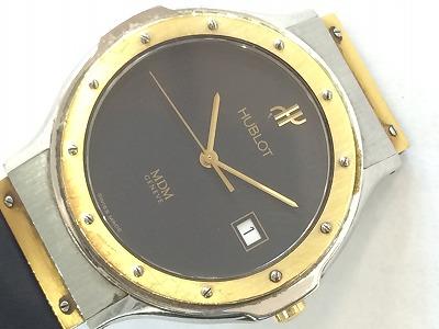 ウブロ 時計 メンズ ステンレス ゴールド ブラック ラバー クォーツ マルカ 西大路七条店 高価買取