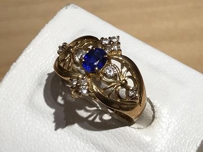 指輪 ダイヤモンド(DIAMOND) サファイア(SAPPHIRE)  リング 指輪 K18