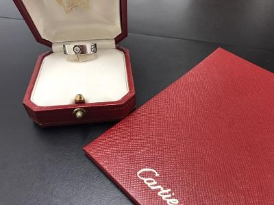 Cartier カルティエ ラブリング ハーフダイヤ 750WG ジュエリー 高価買取 七条店