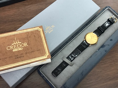 セイコー クレドール (SEIKO CREDOR) 8J80-7000 18KYG×革ベルト セイコー クレドール買取 三宮 元町 神戸